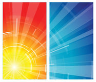 The hot summer sun. With blue sky Stock Image