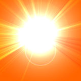 Hot summer sun Stock Photography
