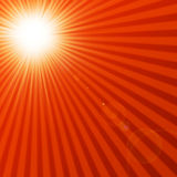 Hot summer sun. With rays Royalty Free Stock Photography