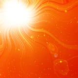 Hot summer sun. In an orange sky Stock Photography