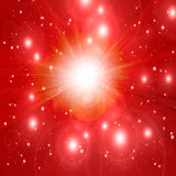 Hot summer sun. In a red sky Royalty Free Stock Photography