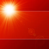 Hot summer sun. In a red sky Royalty Free Stock Photo