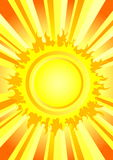 Hot summer sun. Background with hot summer sun. Additional vector format in EPS (v.8 Royalty Free Stock Image