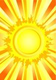 Hot summer sun Royalty Free Stock Image