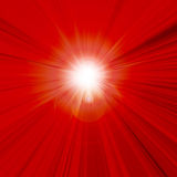 Hot summer sun. In a red sky Royalty Free Stock Photos
