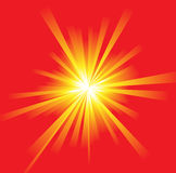 The hot summer sun. Abstract background Stock Images
