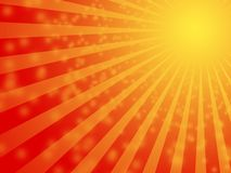 Hot Summer sun background. Abstract red sunny stripes with hypnotic faith feel Royalty Free Stock Photo