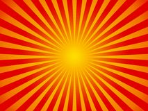 Hot Summer sun background. Abstract red sunny stripes with hypnotic feel Royalty Free Stock Photo