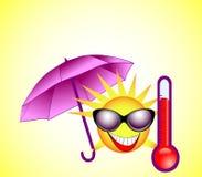 The hot summer sun Royalty Free Stock Photos
