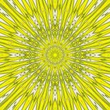 The hot summer sun mandala yellow tile arabesque. Summer sun mandala yellow tile arabesque Vector Illustration
