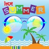 Hot Summer Vector Card Stock Photos