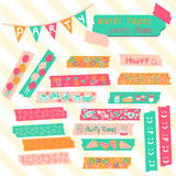 Hot summer washi tapes Stock Image