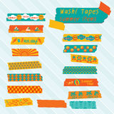 Hot summer washi tapes Stock Images