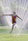 Hot summer water fun Stock Image