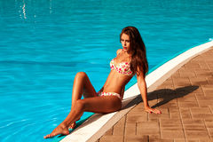 Hot summer woman Royalty Free Stock Photos