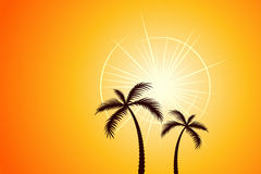 Hot Sun Royalty Free Stock Photos
