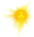 Hot sun. Yellow hot  sun Illustration, symbolic Stock Photo
