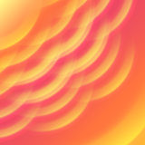 Hot sun light and heat wave abstract background. Summer yellow orange background with soft rays sun light. Hot with space for your message. Vector illustration Stock Photos
