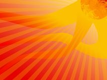 Hot Sun Stripes Background Royalty Free Stock Images