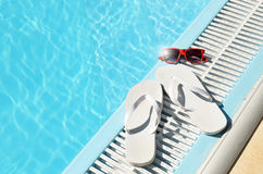 Hot sun summer concept at pool Royalty Free Stock Image