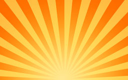 Hot sun sunbeams shining Royalty Free Stock Photos