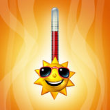 Hot Sun Thermometer Temperature Royalty Free Stock Photography
