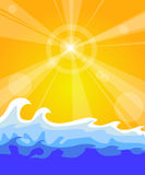 Hot sunny background Stock Image