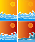 Hot sunny background Royalty Free Stock Images