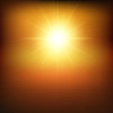 Hot sunny background Stock Photography