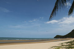 Hot Sunny Day Beach. Beach at the Pranburi Thailand Stock Image