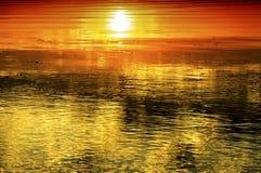 Hot Sunset Royalty Free Stock Photos