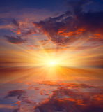 Hot sunset over water Royalty Free Stock Photography