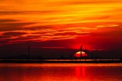 Hot sunset Royalty Free Stock Image