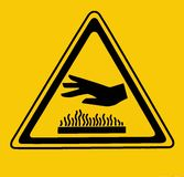 Hot surface, do not touch. Warning sign royalty free illustration