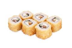 Hot sushi Bangkok. Isolated on a white background Royalty Free Stock Images