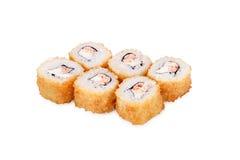 Hot sushi Philadelphia. Isolated on a white background Stock Photo