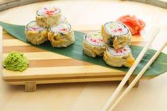 Hot sushi roll Stock Photo