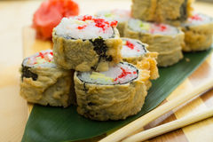 Hot sushi roll Stock Photo