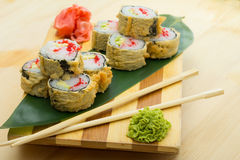 Hot sushi roll Royalty Free Stock Image