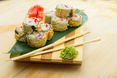 Hot sushi roll Stock Image