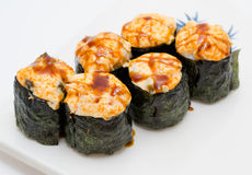 Hot sushi rolls Stock Images