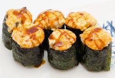 Hot sushi rolls Royalty Free Stock Image