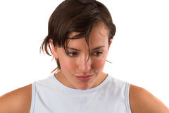 Hot & sweaty after the workout Royalty Free Stock Photography