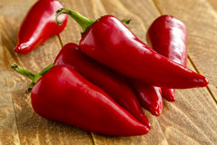 Hot Sweet and Chili Pepper Varieties Royalty Free Stock Photos