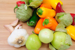 Hot And Sweet Peppers Royalty Free Stock Photography