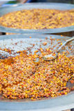 Hot taco blend on metal plate in street food Stock Photography