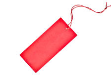 Hot tag. Isolated blank red paper tag Stock Photography