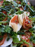 Hot & tangy salad with salted eggs Royalty Free Stock Images
