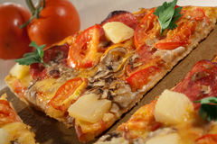 Hot Taste Pizza On The Table Stock Photo