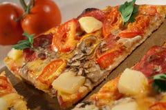 Hot taste pizza on the table. Still life Stock Photo